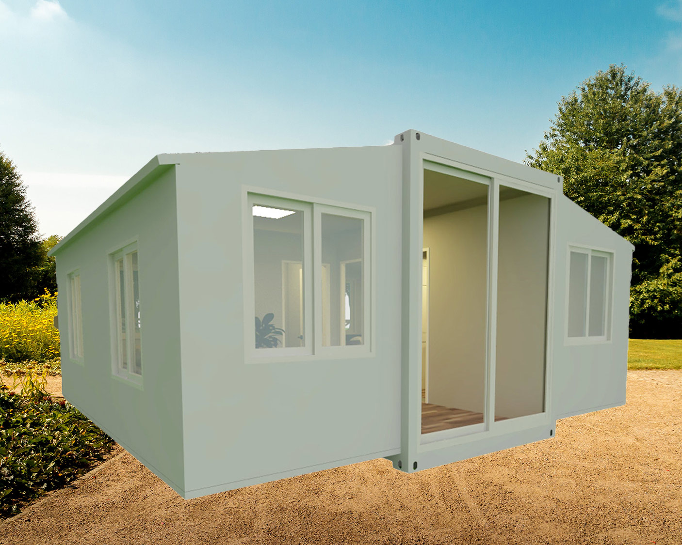 Factory Wholesales One Or Two Bedrooms Folding Expandable Container Home for Sales