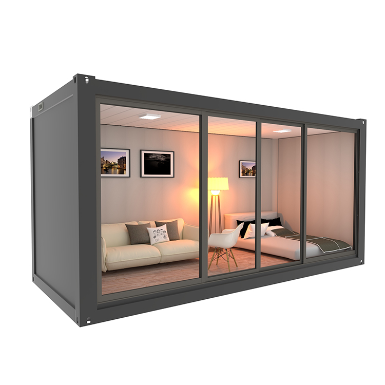 Economy Flat Pack Build Kit Container House 40Ft Prefab Houses Container House Prefabricated 40Ft Container Flat Pack Cabin
